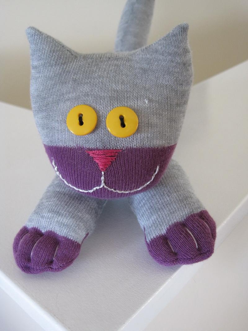 Кот сшить из носка своими руками