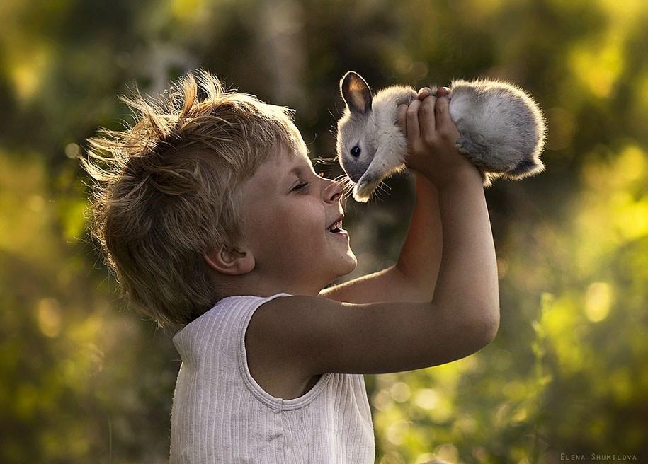 любовь, мальчик и кролик