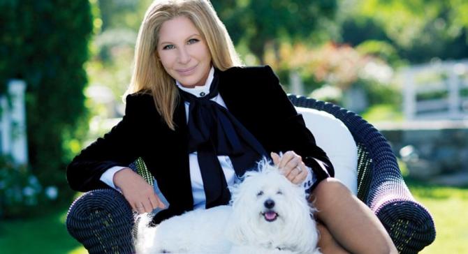 Барбара Стрейзанд и собака