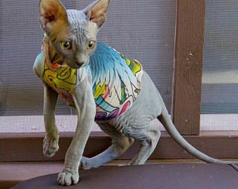 лысая кошка летом