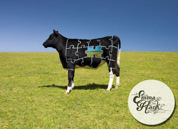 Корова и бодиарт
