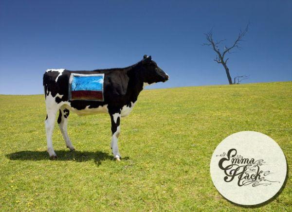 разрисованная корова